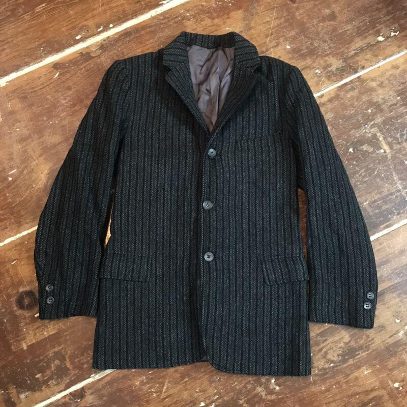 Vintage 50s Wool Tweed Sportcoat Jacket Boys 9/10 Three Button