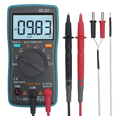 Led Digital Multimeter Trms Auto Range Dc Ac Voltage Meter Tester Capacitance