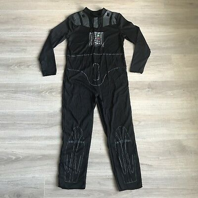 Star Wars Darth Vader Costume One Piece Kids Size Large L Long Sleeve](Darth Vader Costume Kids)
