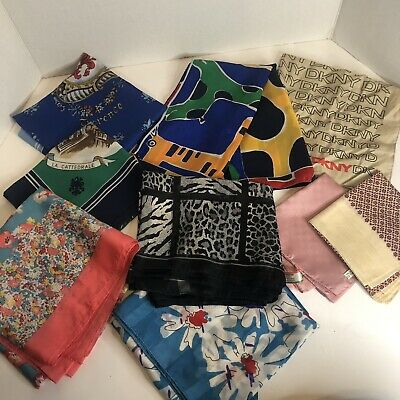 Vintage Scarf Styles -1920s to 1960s Vintage silk scarf lot Italian  $29.99 AT vintagedancer.com
