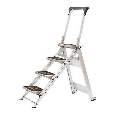 Little Giant 10410ba Aluminum 4 Step Safety Step Stool Stepladder