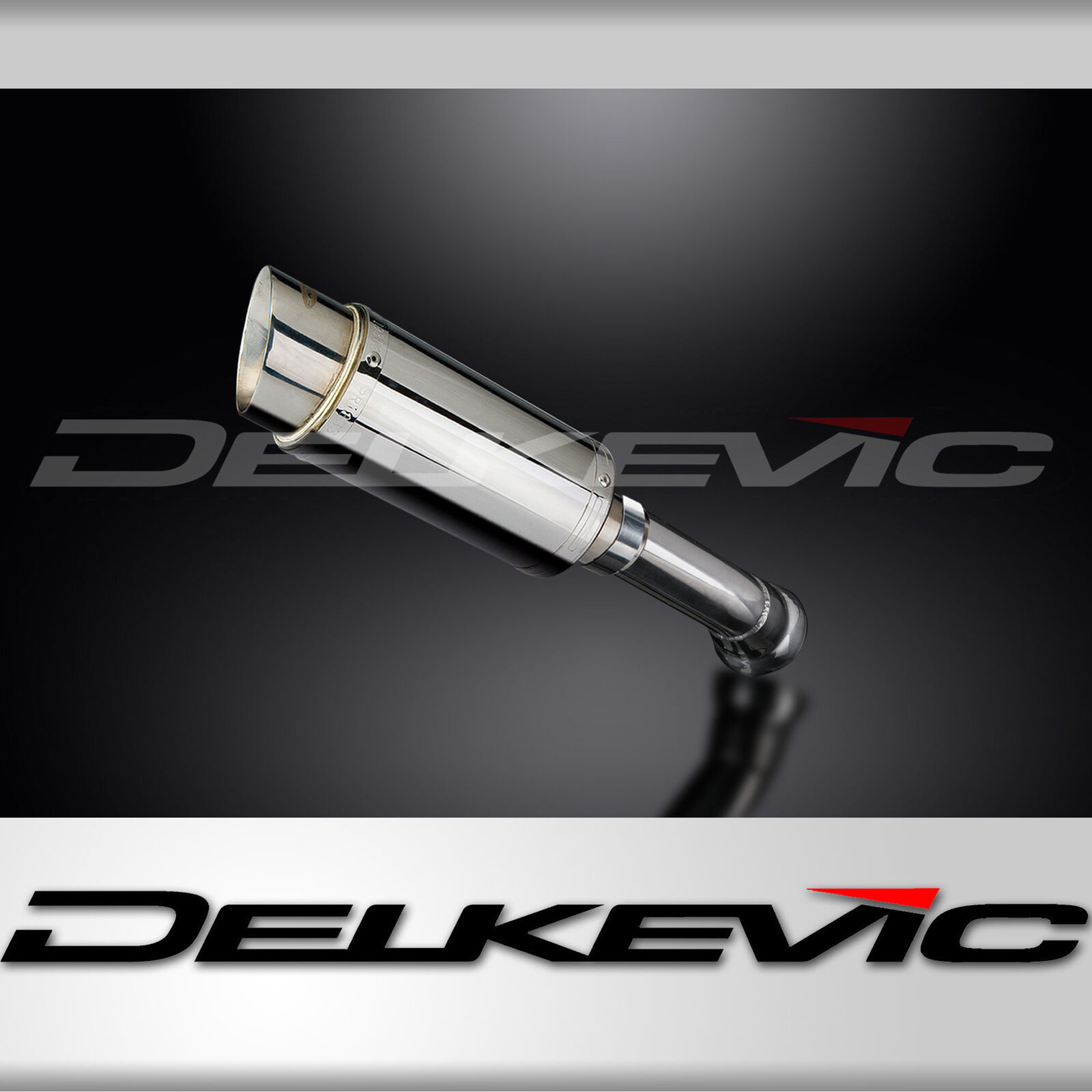 "BMW K1300S Muffler Delkevic 13/"" Stainless Steel Tri-Oval Exhaust Slip On 09-16"