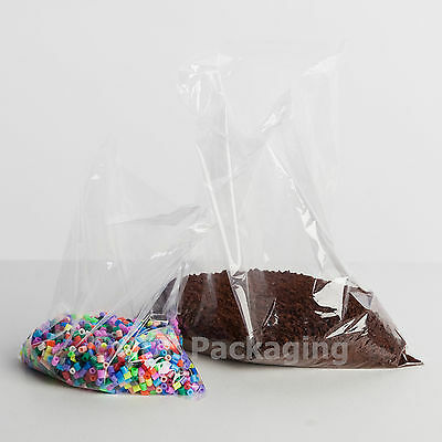 1000 Clear Polythene Plastic Bags 10x12 250 x 300mm 80g
