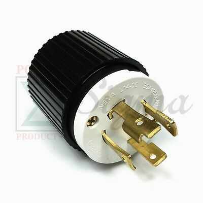 Nema L14-30p Ul Listed Male Locking Generator Plug 30a 125250v 3 Pole 4 Wires