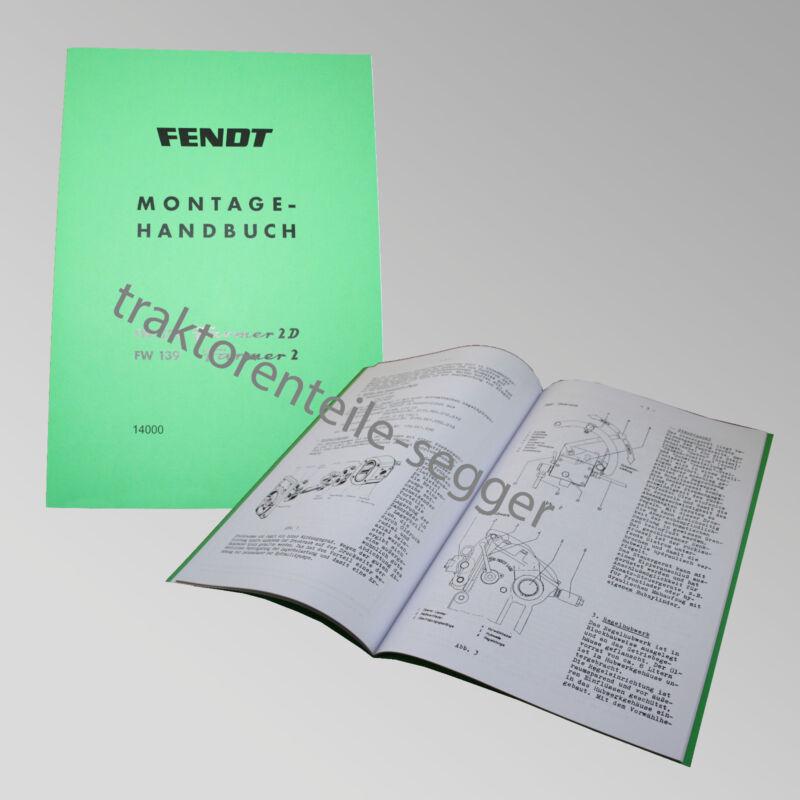 Fendt Montagehandbuch Farmer 2 D / 2 Traktor Schlepper 14000 Foto 1