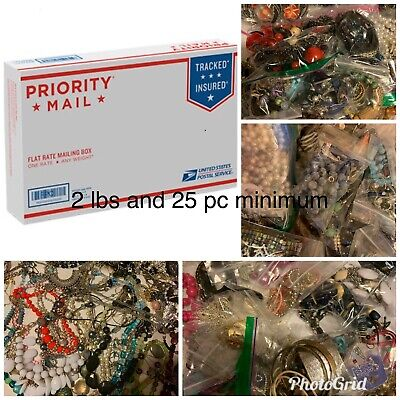 Vintage To Now Jewelry Lot, Good And Wearable 25+ Pc & 2+ Lbs Necklace Bracelet
