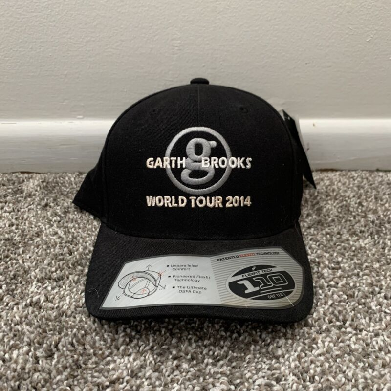 NWT Garth Brooks World Tour 2014 Adjustable Strapback Hat Black Concert Country