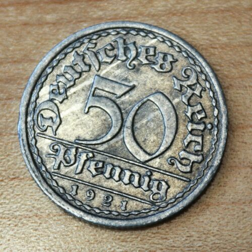 1921 F Germany - Weimar Republic 50 Pfennig