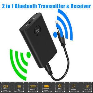 Wireless Bluetooth Transmitter + Receiver TaoTronics Stereo Audio Music Adapter