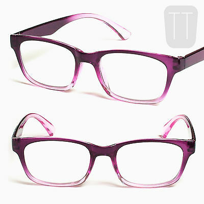 Lesebrille Multipackung Violett Rosa Gerahmt Lesebrillen Geek +1.5 +2 +2.5 +3