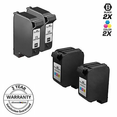 4 PK For HP 15 & 78 Ink Cartridges For Color Copier FAX Deskjet Officejet PSC Copier Fax Ink Cartridges