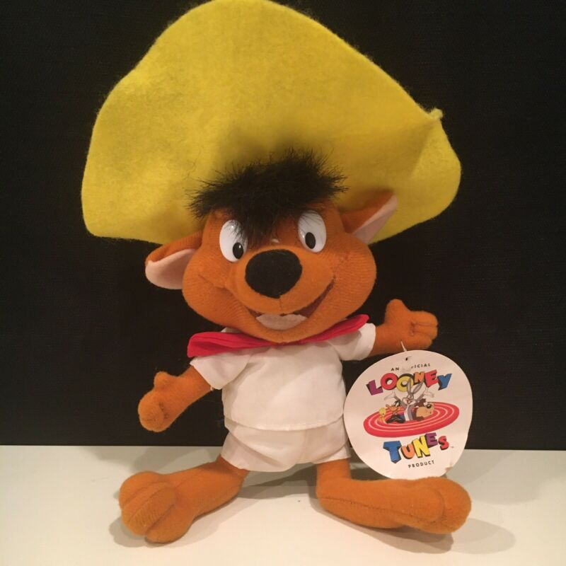 "Vintage 1996 Looney Tunes SPEEDY GONZALES 10"" Stuffed Plush by Ace Novelty Co."