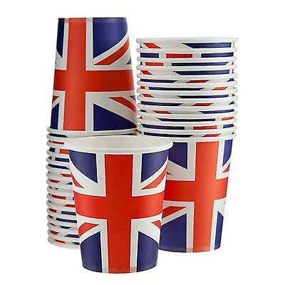20 Union Jack Cups 90s British Street Queen's 90th Birthday Tableware