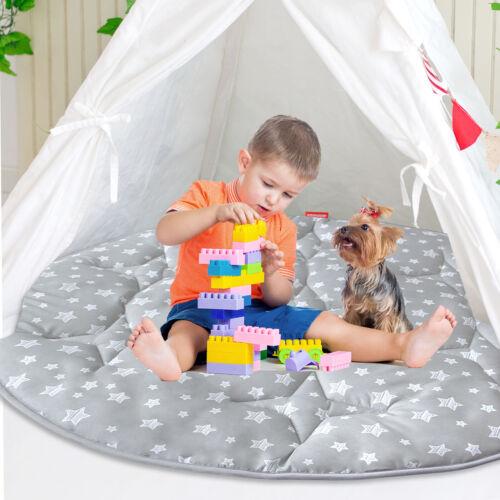 Play Tent Mat Round Padded Mat Anti Slip Baby Activity Mat 40