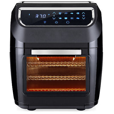 BCP 11.6qt 8-in-1 XL Air Fryer Oven, Rotisserie, Dehydrator Set...