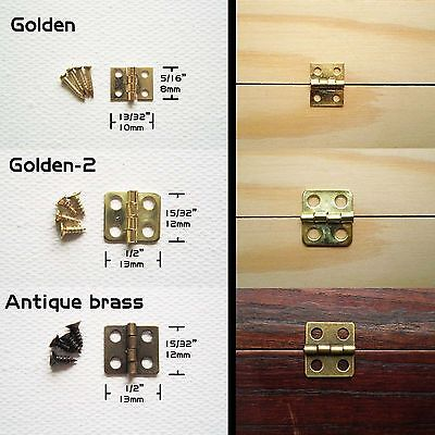 - 10-50pcs Jewelry Chest Gift Wine Box Wood Dollhouse Cabinet Door Hinge #M1118 QL