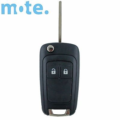 Holden Barina/Cruze/Trax 2 Button Remote Flip Key Blank Shell/Case/Enclosure/Fob