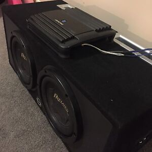 ^** PIONEER PREMIER SUBWOOFERS IN BASSWORX BOX ALPINE AMP!!