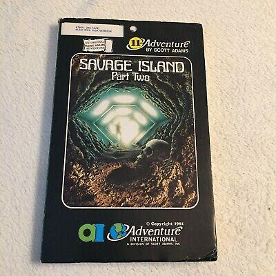 Savage Island Part II - Scott Adams Adventure International - Atari - Very Rare