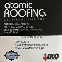 Atomic Roofing- locally owner operated +25 years experience