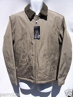 Berber Lined Fleece Jacket (Structure Men's Berber Fleece Lined Beige Brown Coat Jacket Size Small NWT )