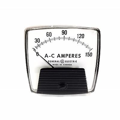 L543lspz General Electric Ge Panel Meter 0-150 Ac Amperes