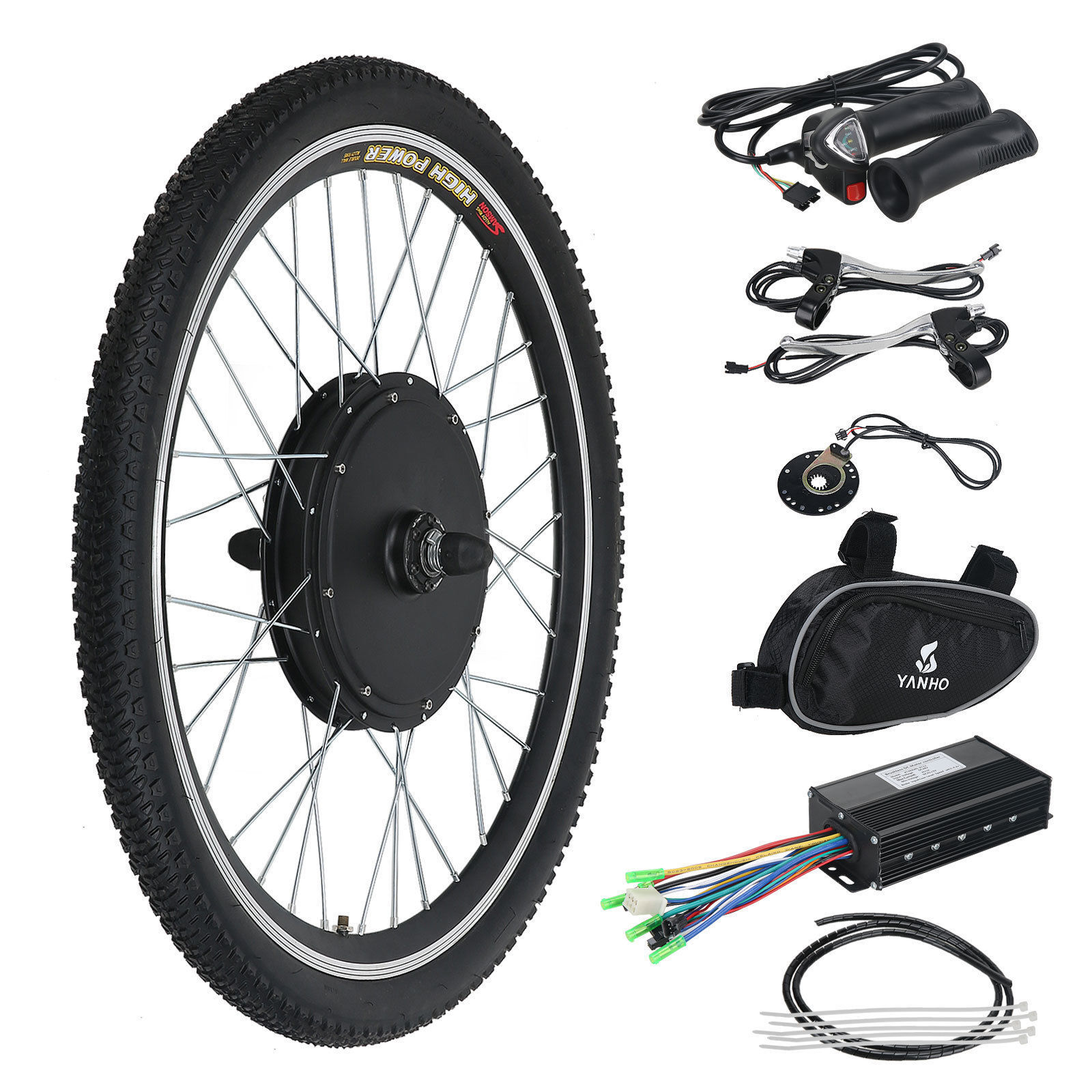 48v 1000w 26inch Hight Speed Scooter Electric Bicycle E-bike Hub Motor Conversion Kit In Short Supply Lcd Automobiles & Motorcycles