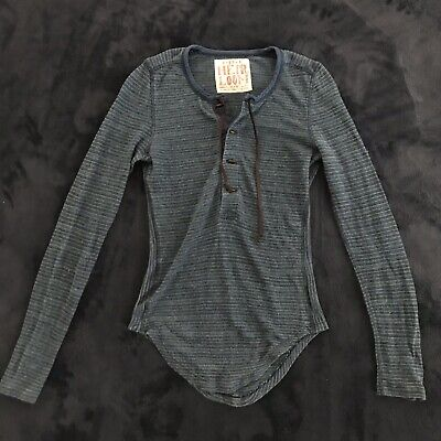 Heirloom by Free People Navy blue stripe Henley
