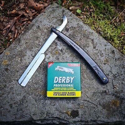 Rasiermesser Ustura Sedef Schwarz 20 Rasierklingen Derby