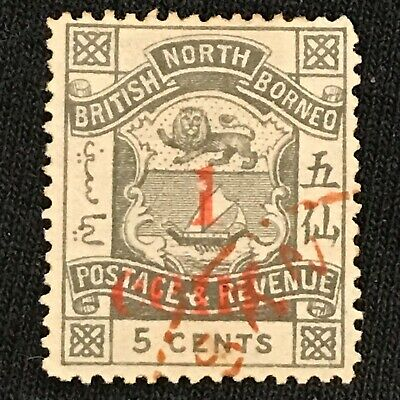 North Borneo SC #57 Used Red Town Cancel 1892