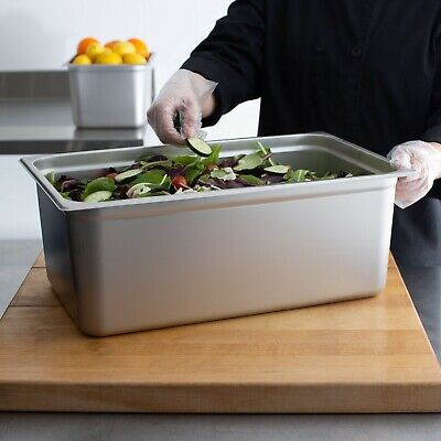 Choice Full Size 8 Deep Anti-jam Stainless Steel Steam Table Hotel Pan