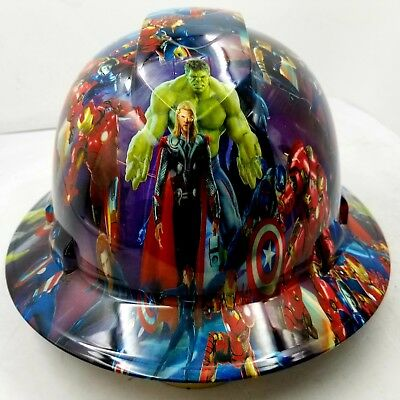 Hard Hat Custom Hydro Dipped Osha Approved Full Brim Comic Book Superheros