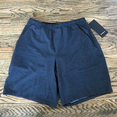 """Lululemon Pace Breaker Short 9"""" Liner zip pocket HTPV Blue Size Large NWT $68"""