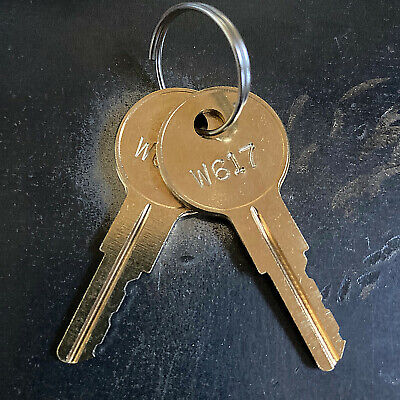 2 Wind Danbury Hirsh Staples Cabinet Replacement Keys - Key Code W601 - W650