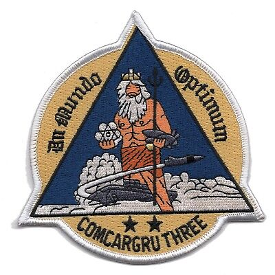 COMCARGRU THREE Commander Carrier Group 3 Military Patch King Neptune