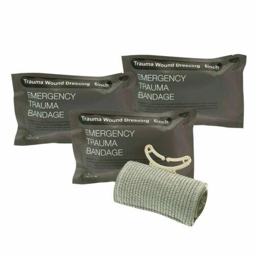 """3pcs 6"""" Trauma Bandage Emergency Israeli Style Battle Wound"""