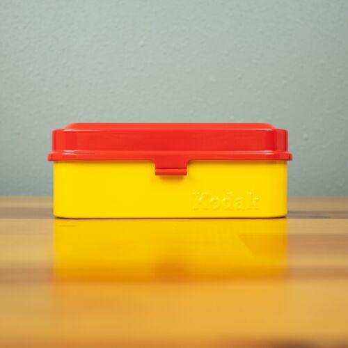Kodak Vintage 35mm Film Case Classic Red - Hold 5 Rolls of Film