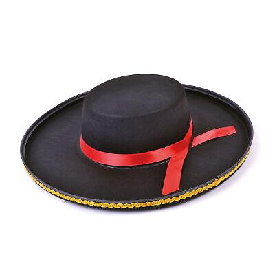 Spanische Filzhut Matador Zorro Musketier Kostüm Erwachsene Kostüm - Matador Kostüm Zubehör