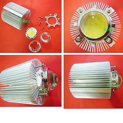 100w 100 Watt White High Power Led Light Reflector Lens Kit Heatsink Cooler
