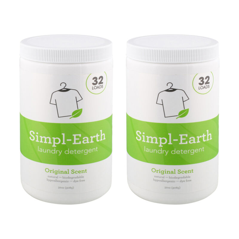 7Penn 32 Loads Laundry Detergent 2pk 32oz Sensitive Skin Washer Detergent Powder