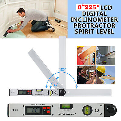 0225 Digital Electronic Level Angle Finder Goniometer Protractor Gauge Ruler