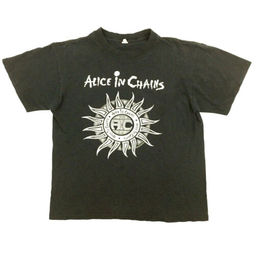 Vtg Alice In Chains T-Shirt Tribal Sun 2006 Logo Rock Band Tour Concert Tee Sz M
