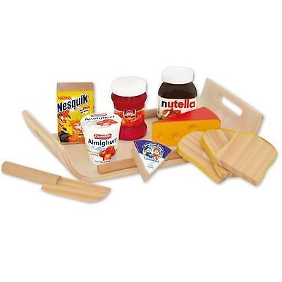Frühstücks Set Holz Kaufladen Kinderküche Spielküche Kaufmannsladen Spielzeug