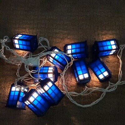 Doctor Who Tardis String Lights - 9 Ft. Indoor/Outdoor - Tested