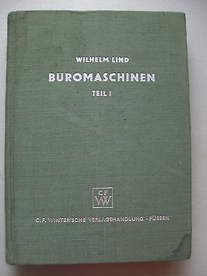 Lehrbücher Feinwerktechnik Bd. 5 Büromaschinen Teil 1 1954