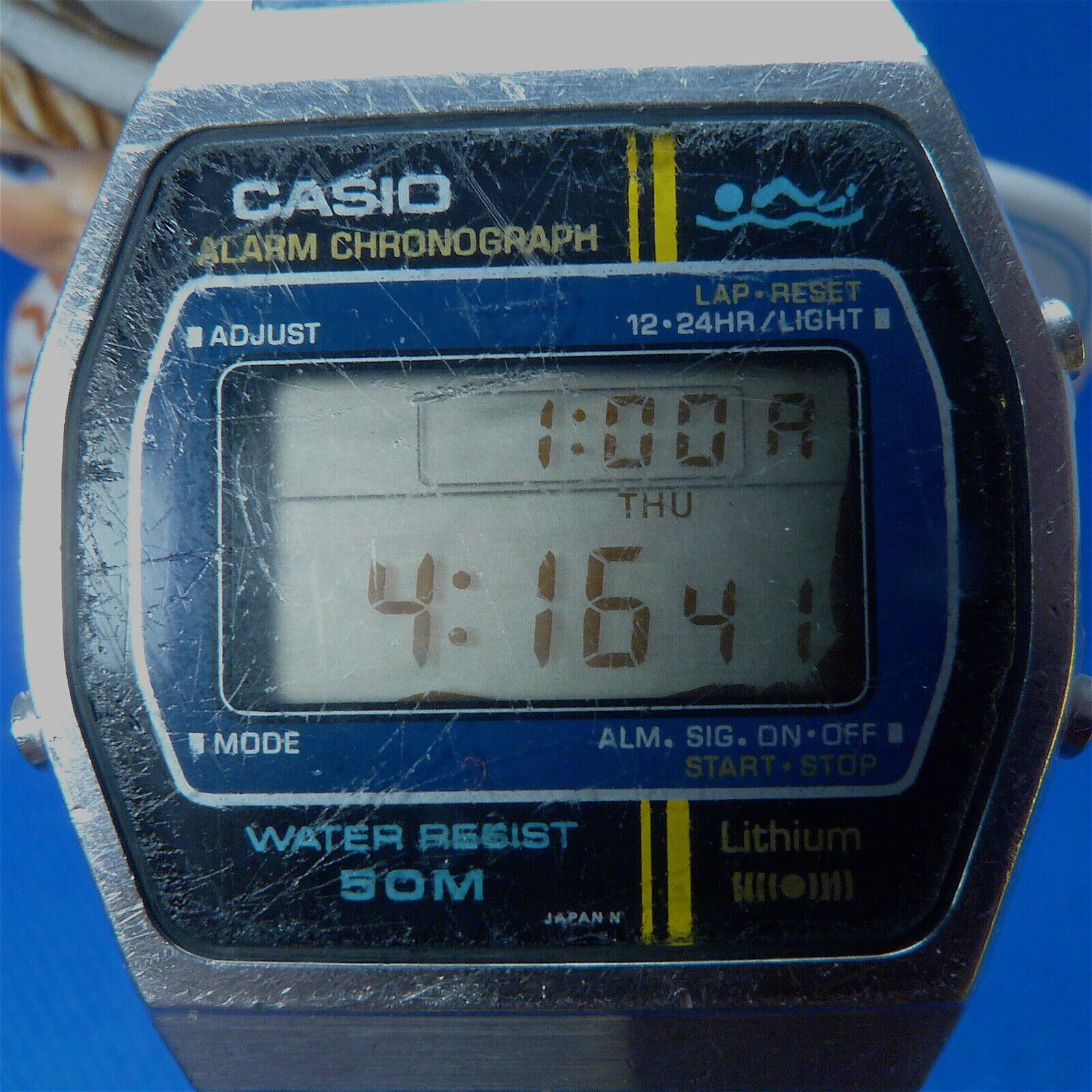 Very Rare 1987 CASIO W-30Stainless Steel Japan Made Watch New Battery - $13.00