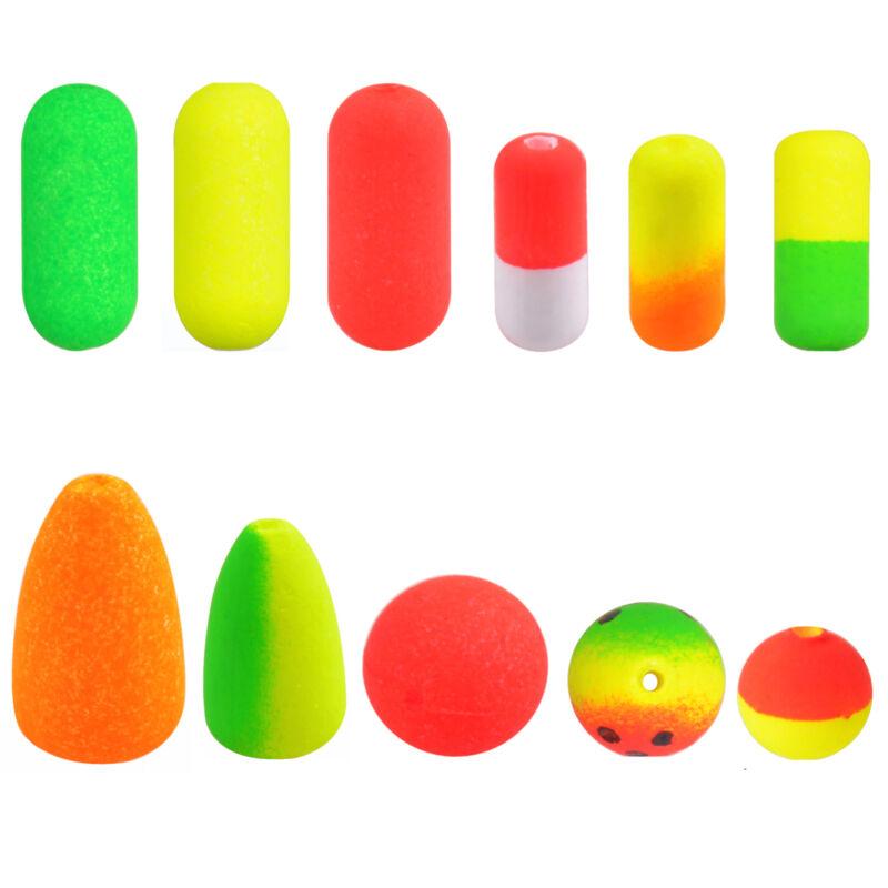 100pcs Pompano Floats Oval Foam Floats for Surf Fishing Rig Float Cylinder Float
