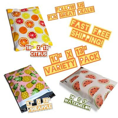 30 Mix 10x13 Poly Mailers Variety Pack 10 Ea