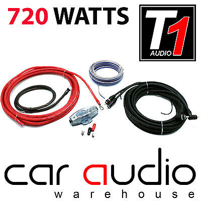 T1 AUDIO PRO 8 720 WATT 8 AWG Gauge Complete Car Amp Amplifier Wiring Kit Car Audio Pro 1 Amp