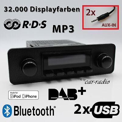 Retrosound San Diego DAB+ Komplettset Black Oldtimer Radio USB MP3 Bluetooth DAB Iphone Ipod Nano Mp3